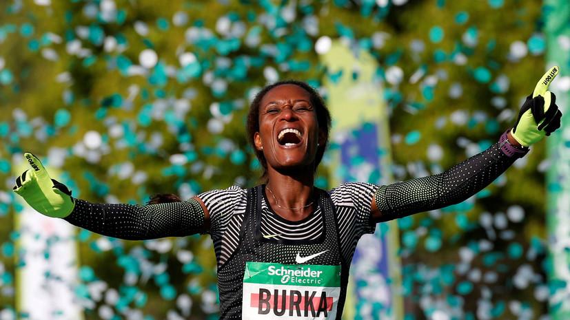Бегуны из Эфиопии победили на Парижском марафоне