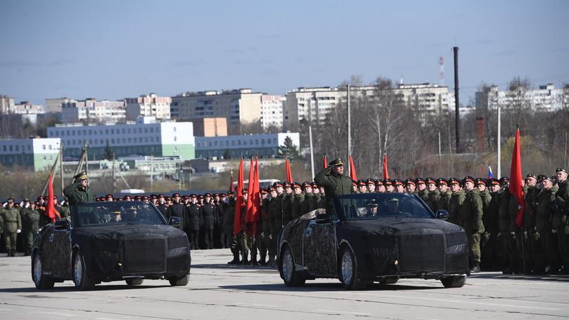 Кабриолеты Aurus задействованы в тренировке к параду Победы