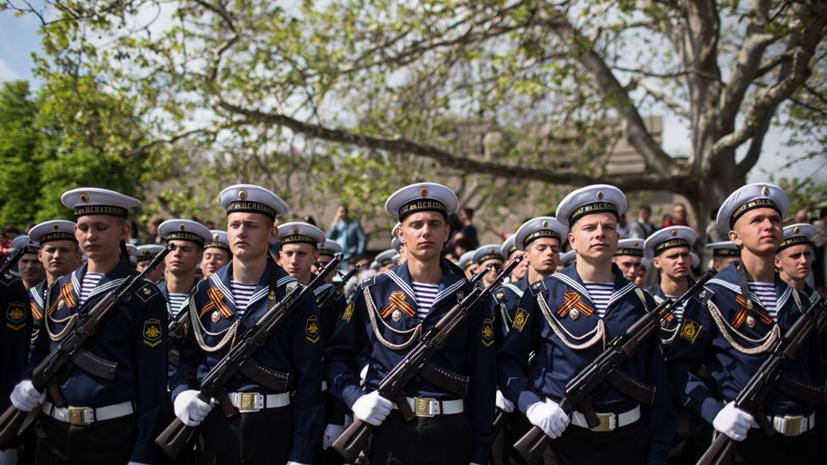 Сводные тренировки участников Парада Победы начались в Севастополе