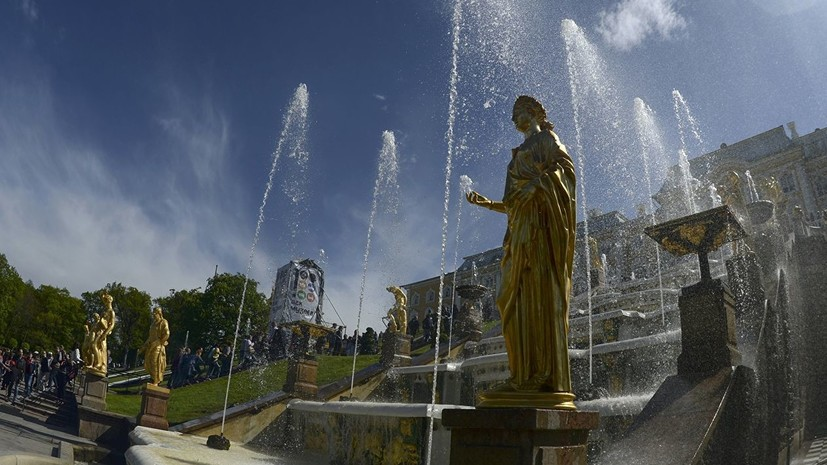 Сезон фонтанов в Петербурге начнётся 19 апреля
