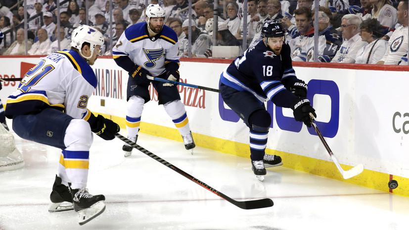 «Сент-Луис» добыл волевую победу над «Виннипегом» и вышел вперёд в серии плей-офф НХЛ
