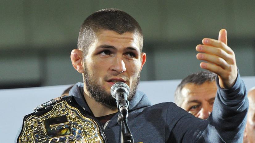 Нурмагомедов поддержал Махачева перед боем на турнире UFC в Санкт-Петербурге