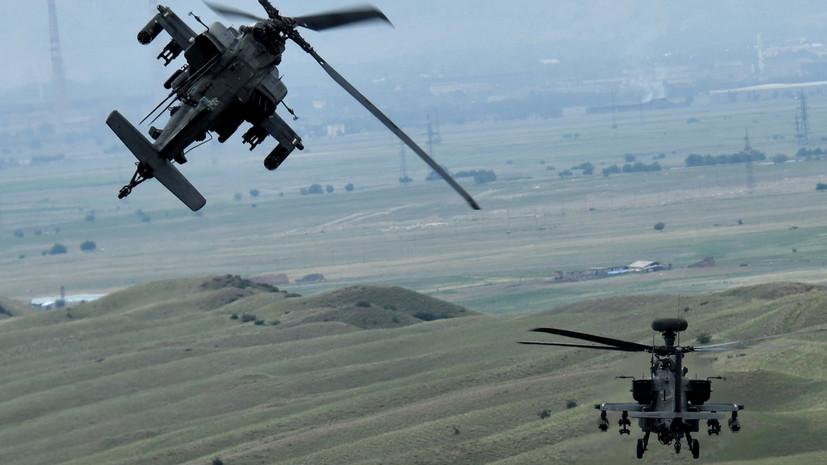 На базу в Эстонии прибыли пять британских военных вертолётов