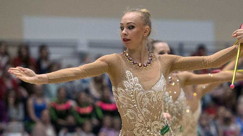 Российские гимнастки заняли первое место в упражнениях с обручами и булавами на этапе КМ