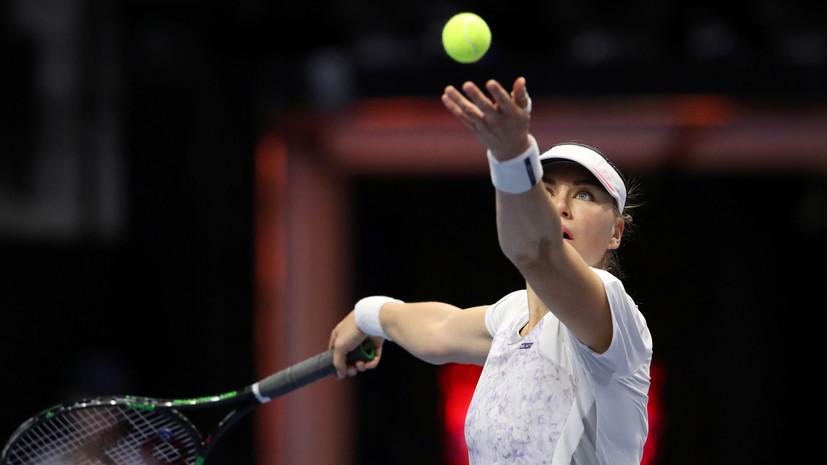 Звонарёва обыграла Шиникову во втором отборочном раунде турнира WTA в Штутгарте