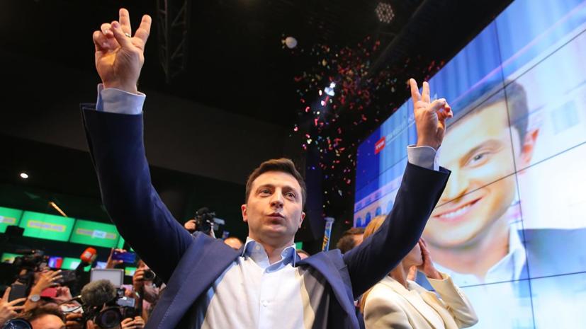 В Госдуме оценили лидерство Зеленского по результатам экзитпола