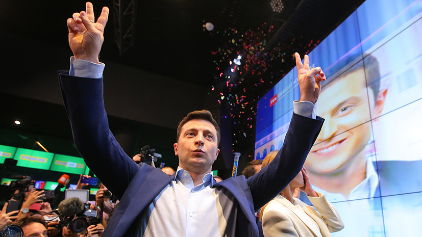 Слуга народа: Зеленский лидирует с 73% голосов после обработки 80% протоколов