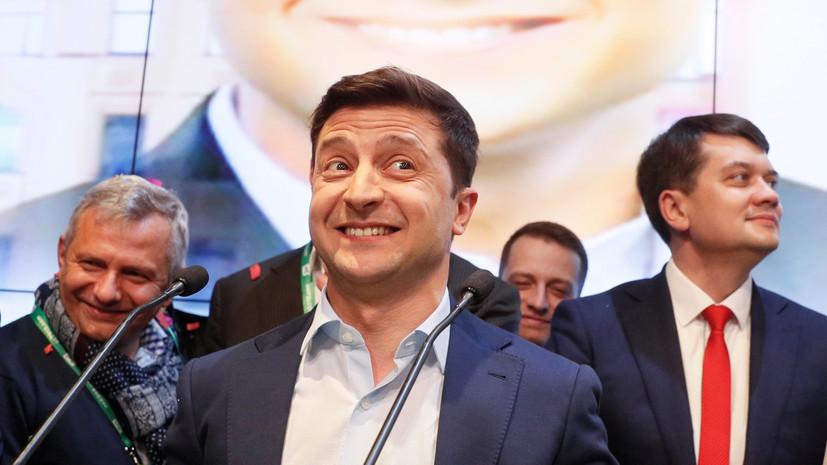 Дуда, Туск и Столтенберг поздравили Зеленского с лидерством на выборах