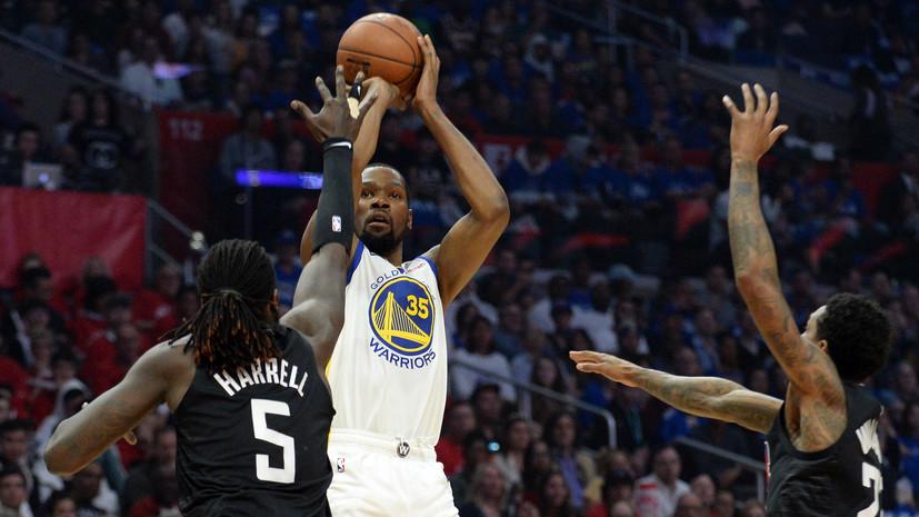 «Голден Стэйт» одержал третью победу в серии плей-офф НБА с «Клипперс», Дюрант набрал 33 очка
