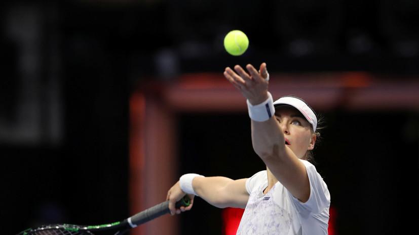 Теннисистка Звонарёва не сумела пробиться в основную сетку турнира в Штутгарте