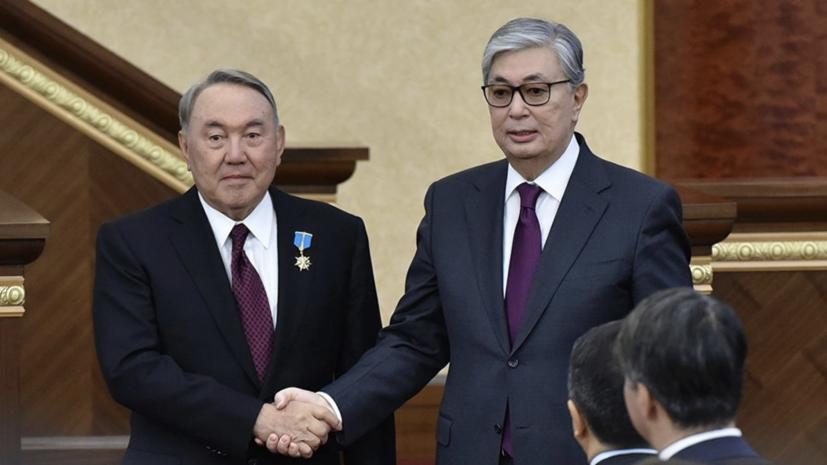 Назарбаев предложил своей партии выдвинуть Токаева на выборы президента Казахстана