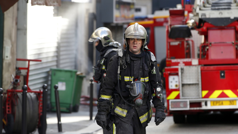 Во французском городе Версаль произошёл пожар