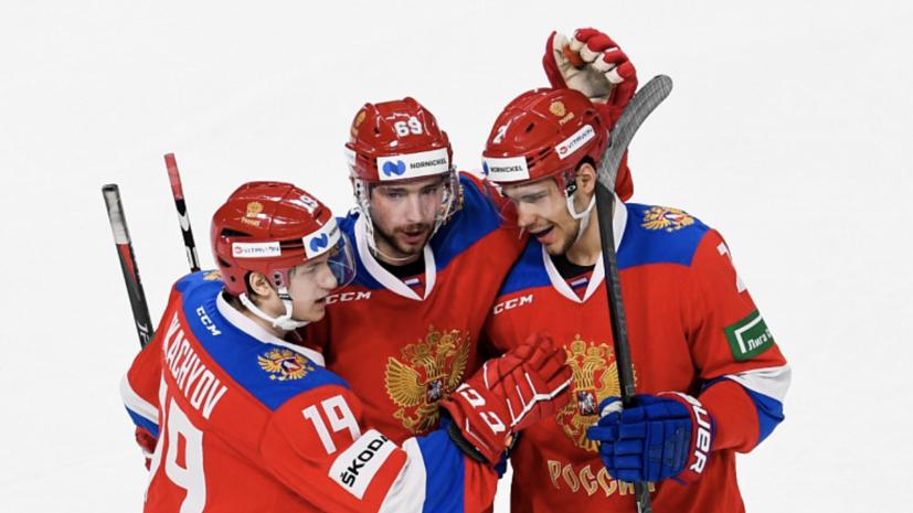 Сборная России по хоккею одержала волевую победу над Латвией в контрольном матче
