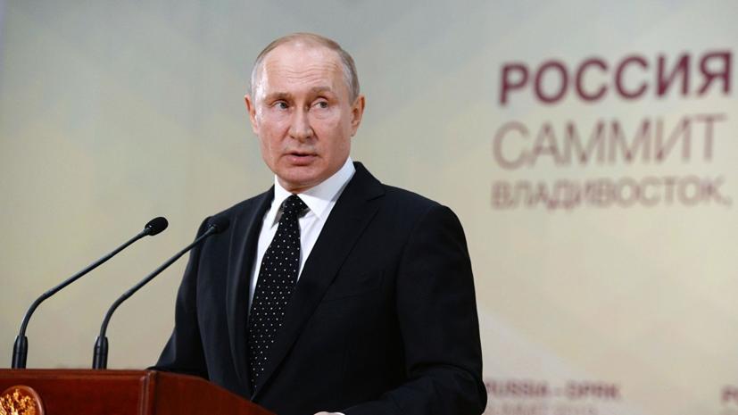 Путин назвал провалом Порошенко итоги выборов президента Украины