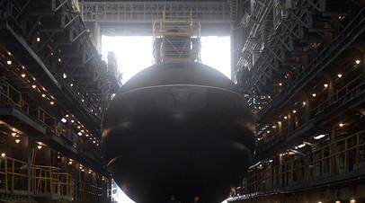Церемония спуска на воду дизель-электрической подводной лодки «Петропавловск-Камчатский»