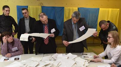 Подсчёт бюллетеней на избирательных участках во Львове