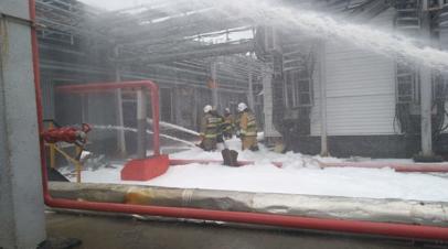 Открытое горение на заводе в Самарской области ликвидировано