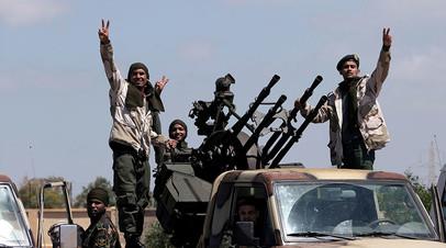 Бойцы Ливийской национальной армии