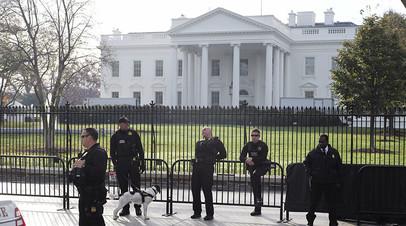 Сотрудники Секретной службы у Белого дома, Вашингтон