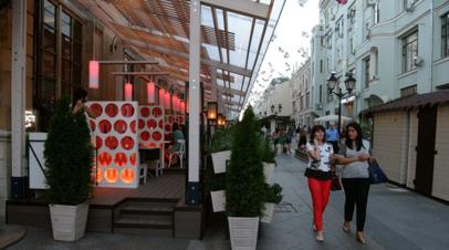 В Москве рассказали о работе летних веранд в новом сезоне