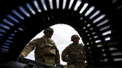 Американские военные на учениях в Польше