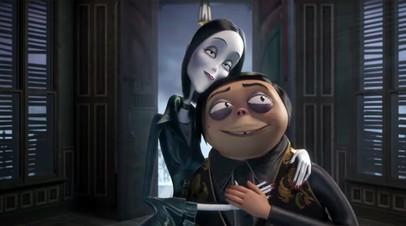 Кадр из мультипликационного фильма «Семейка Аддамс»