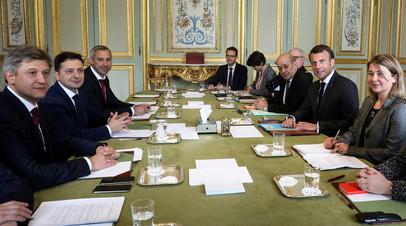 Зеленский назвал встречу с Макроном конструктивной