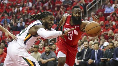 «Хьюстон» вышел вперёд в серии плей-офф НБА с «Ютой», Харден оформил дабл-дабл