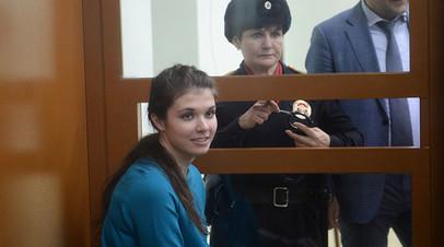 Бывшая студентка МГУ Александра Иванова (до смены имени — Варвара Караулова) в Московском окружном военном суде