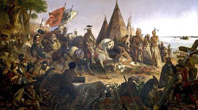 Уильям Генри Пауэлл. Открытие реки Миссисипи конкистадором Эрнандо де Сото в 1541 году. 1853