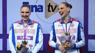 Синхронистки Колесниченко и Ромашина победили в произвольной программе на этапе Мировой серии в Казани