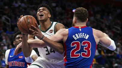«Милуоки» выиграл у «Детройта» и одержал победу 4:0 в серии плей-офф НБА