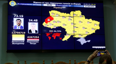 Опубликованы окончательные результаты президентских выборов на Украине