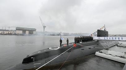 Подлодка ЧФ «Колпино» возвращается в Новороссийск из Средиземного моря