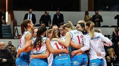 «Динамо» выиграло чемпионат России по волейболу среди женщин