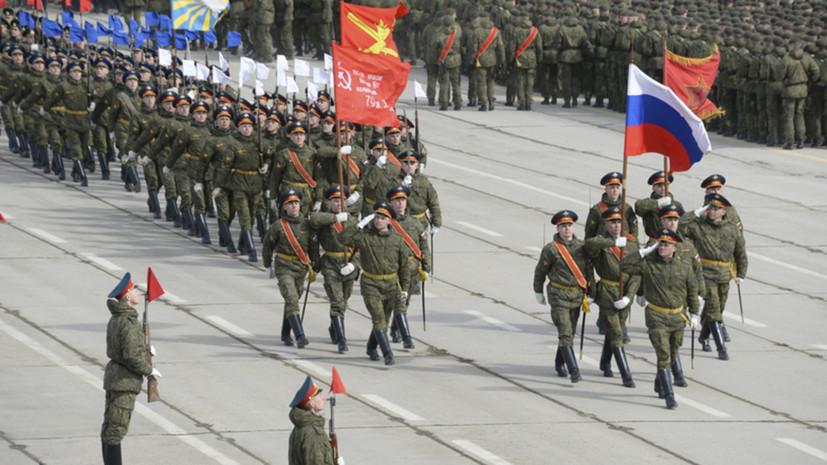Мотострелковая дивизия в Ростовской области получила копию Знамени Победы