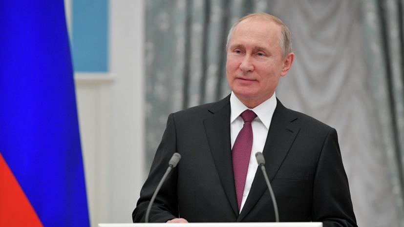 Путин поздравил народ Украины с Днём Победы