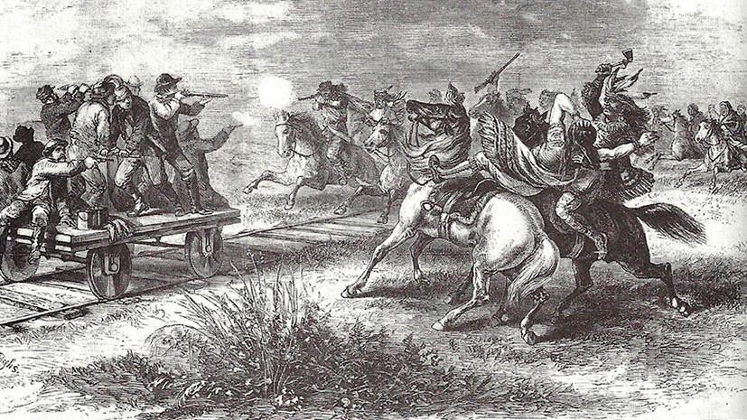 Катализатор геноцида: как строительство Первой трансконтинентальной железной дороги в США привело к истреблению индейцев