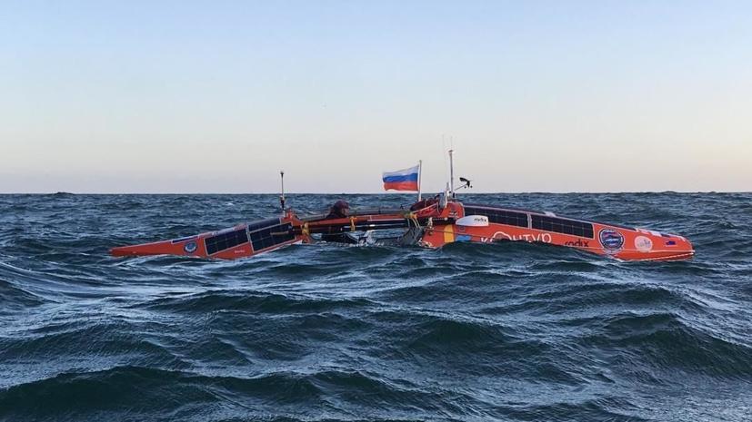 Конюхов первым в мире пересёк южную часть Тихого океана на вёсельной лодке