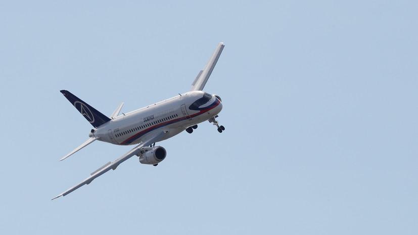 SSJ-100 не вылетел из Краснодара по техническим причинам
