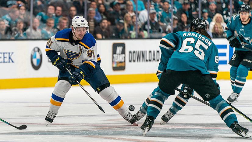 Возрождение интриги: передача Тарасенко помогла «Сент-Луису» сравнять счёт в серии с «Сан-Хосе» в плей-офф НХЛ