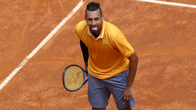 Разбитая ракетка, выброшенный стул, ругань в адрес судьи: австралийский теннисист дисквалифицирован на турнире в Риме