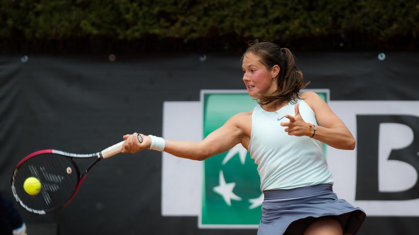 Теннисистка Касаткина проиграла Вондроушевой на турнире в Риме