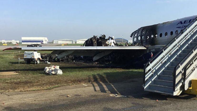 В Росавиации рассказали о действиях экипажа сгоревшего SSJ-100