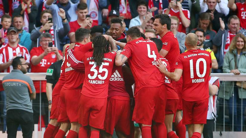 «Бавария» победила «Айнтрахт» и в седьмой раз подряд стала чемпионом Бундеслиги