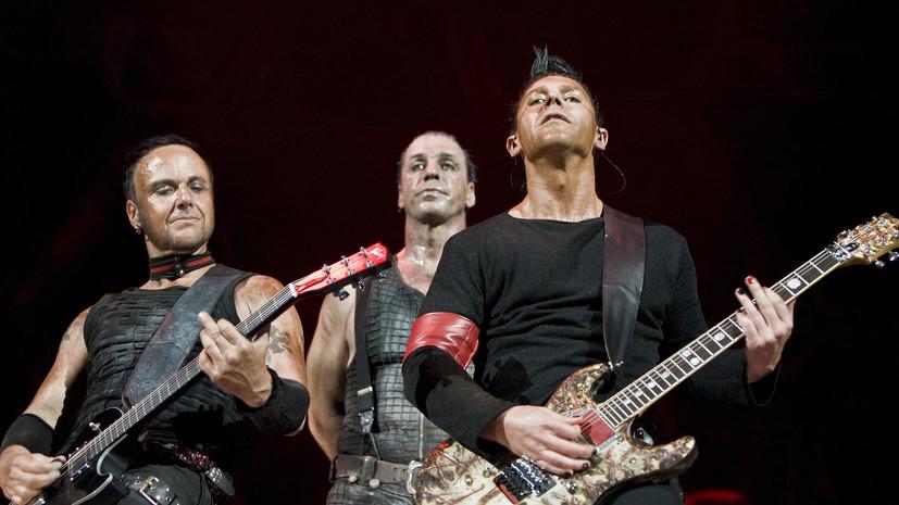 Rammstein провезёт по Европе огромную спичку