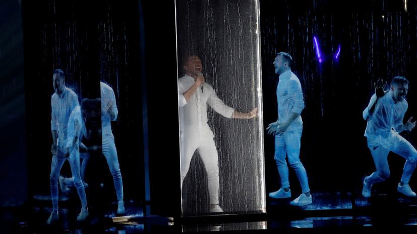 Лазарев выступил в финале Евровидения