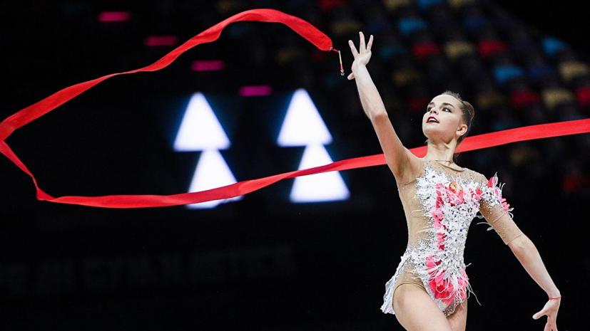 Дина Аверина победила в упражнениях с лентой на ЧЕ по художественной гимнастике