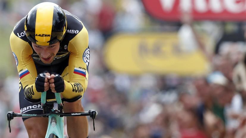 Словенец Роглич выиграл девятый этап «Джиро д'Италия», Закарин — 13-й