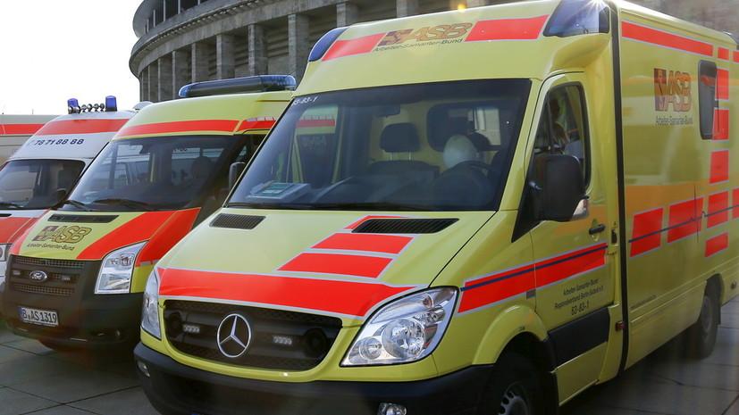 В аварии автобуса в Германии погиб один человек и 20 пострадали